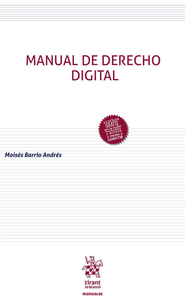 portada libro Manual de Derecho digital de Moisés Barrio